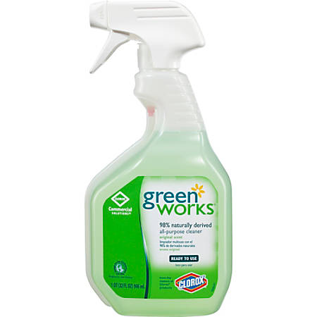 Green Works All-Purpose Cleaner Spray - Spray - 0.25 gal (32 fl oz) - 12 / Carton