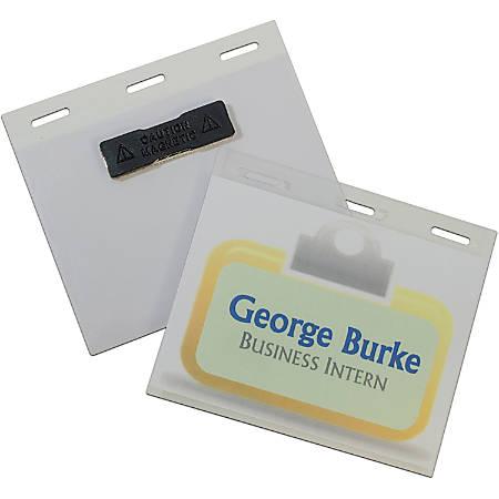 C-Line Magnetic Style 4x3 Name Badge Holder Kit