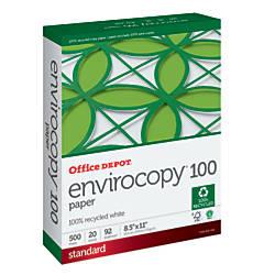 Office Depot Brand EnviroCopy 100 Paper