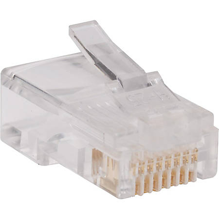 Tripp Lite RJ45 for Solid / Standard Conductor 4-Pair Cat5e Cat5 Cable 100 Pack - 100 Pack - 1 x RJ-45 Male