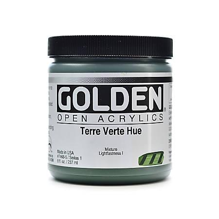 Golden OPEN Acrylic Paint, 8 Oz Jar, Terre Verte Hue