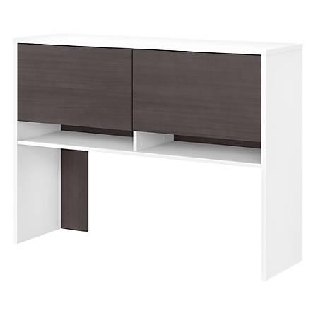 "Bush Business Furniture Jamestown 49""W Hutch For 60""W Desk, Storm Gray/White, Standard Delivery"