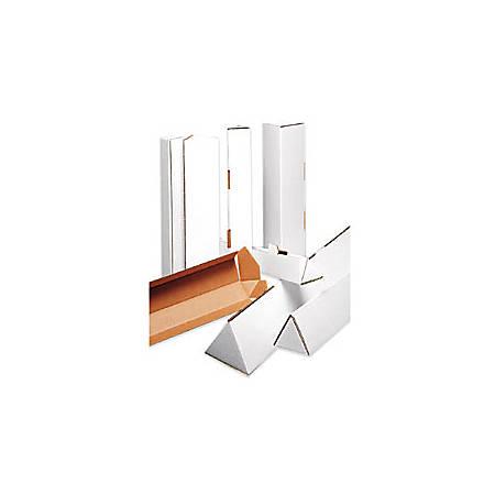 "Office Depot® Brand Triangular White Tube Mailers, 3"" x 18 1/4"", Pack Of 50"