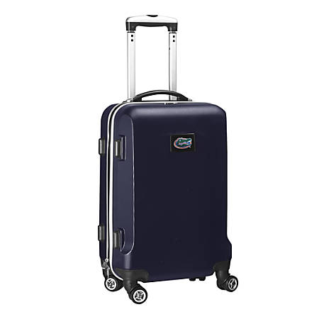"""Denco Sports Luggage NCAA ABS Plastic Rolling Domestic Carry-On Spinner, 20"""" x 13 1/2"""" x 9"""", Florida Gators, Navy"""