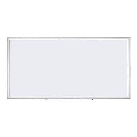 "U Brands Dry-Erase Whiteboard, Melamine, 96"" x 48"", Silver Aluminum Frame"