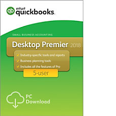 QuickBooks Desktop Premier 2018 For 5