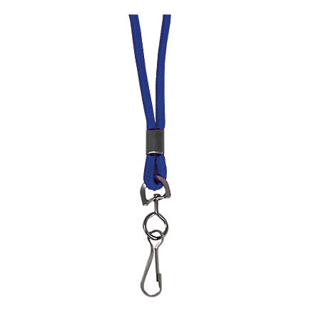 "C-Line® Standard Lanyards With Swivel Hooks, 36""L, Blue, Pack Of 24"