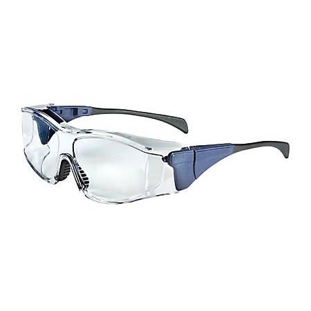 Ambient OTG Eyewear, Clear Polycarbonate Hard Coat Lenses, Medium Blue Frame