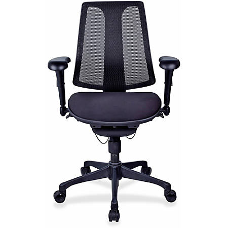 Lorell® Posture Lock Mesh Back Fabric Seat Chair, Black