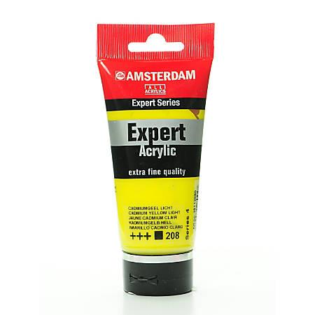 Amsterdam Expert Acrylic Paint Tubes, 75 mL, Cadmium Yellow Light, Pack Of 2