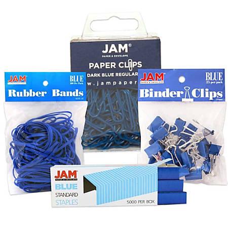 JAM Paper® 4-Piece Desk Supply Kit, Blue