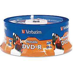 Verbatim DVD R 47Gb 16X White