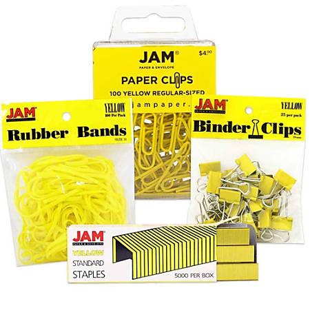 JAM Paper® 4-Piece Desk Supply Kit, Yellow