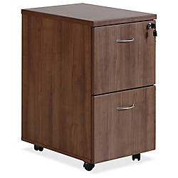 Lorell Essentials Walnut FF Mobile Pedestal