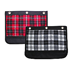Inkology Plaid Binder Pencil Pouches 10