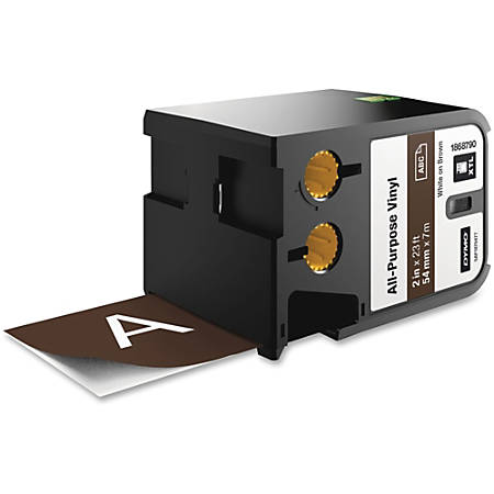 "Dymo XTL All-Purpose Vinyl Label Cartridge - 2"" Width x 22 31/32 ft Length - Thermal Transfer - Brown - Vinyl - 1 Each"