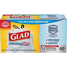 Glad ForceFlexPlus Drawstring Trash Bags 13