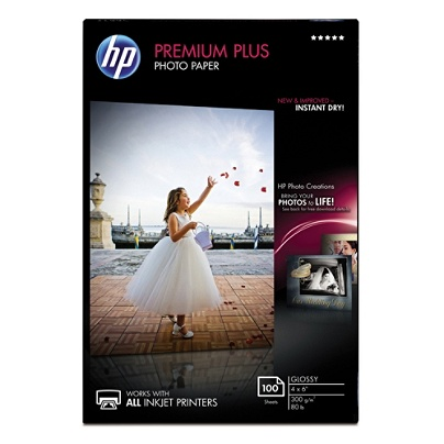 Hp Premium Plus Glossy Photo Paper 4 X 6 Pack Of 100 Sheets Office