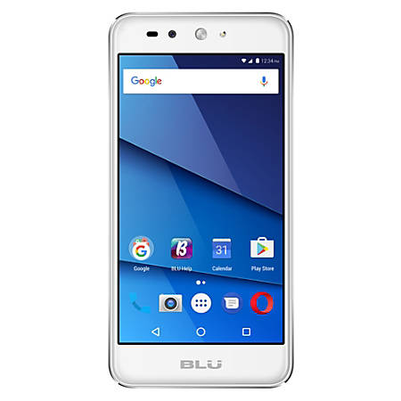BLU Grand X LTE G0010WW Cell Phone, Silver, PBN201248