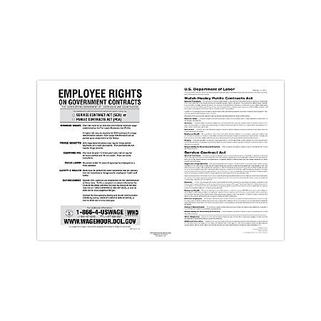 "ComplyRight Federal Contractor Posters, English, Walsh-Healey Public/Service Contracts, 11"" x 17"""