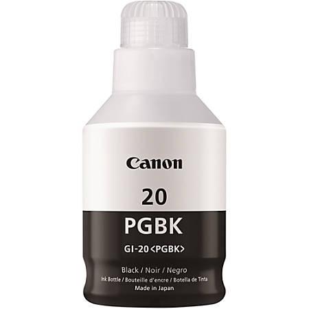 Canon Canon GI-20 MegaTank Ink - Inkjet - Black - 1 Each
