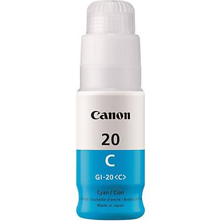 Canon Canon GI-20 MegaTank Ink - Inkjet - Cyan - 1 Each