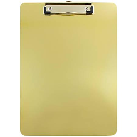 "JAM Paper® Aluminum Clipboard, 9"" x 12-1/2"", Gold"