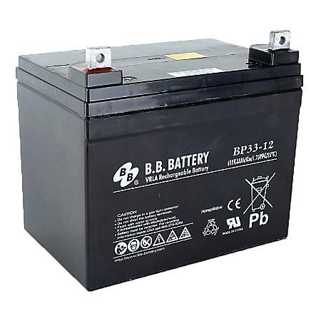 B & B BP Series Battery, BP33-12, B-SLA1233