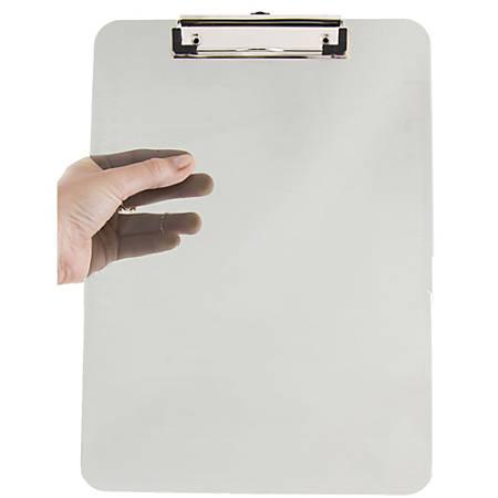 "JAM Paper® Plastic Mini Clipboard, 6"" x 9"", Smoke"
