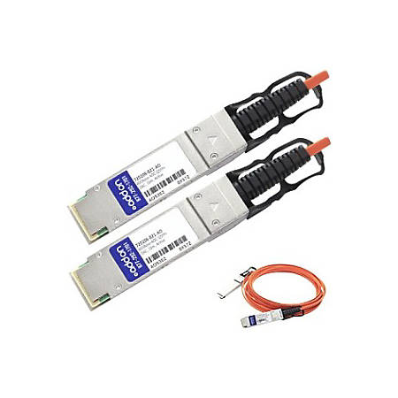 AddOn HP 720208-B21 Compatible TAA Compliant 40GBase-AOC QSFP+ to QSFP+ Direct Attach Cable (850nm, MMF, 10m)