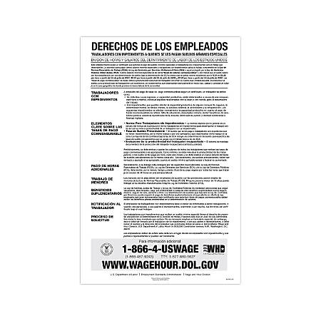 "ComplyRight Federal Contractor Posters, Spanish, Notice To Workers With Disabilities, 11"" x 17"""