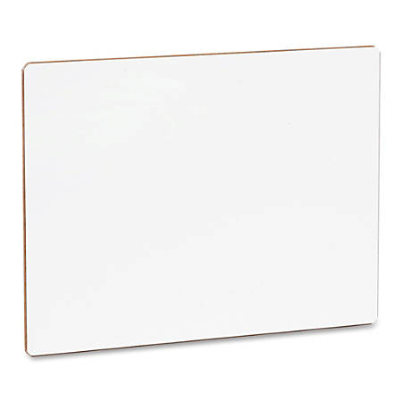 "Flipside Unframed Dry Erase Lap Board - 9"" (0.8 ft) Width x 12"" (1 ft) Height - White Surface - Rectangle - 1 Each"