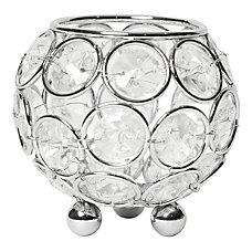Elegant Designs Elipse Crystal Circular Bowl