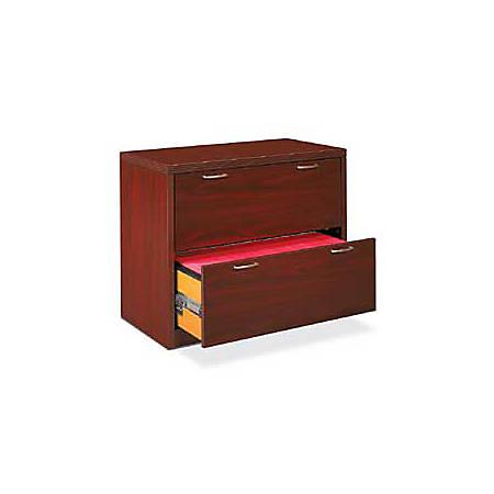 """HON® Valido™ 2-Drawer Lateral File, 29 1/2""""H x 36""""W x 20""""D, Mahogany"""