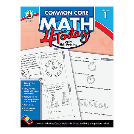 Carson-Dellosa Common Core Math 4 Today, Grade 1