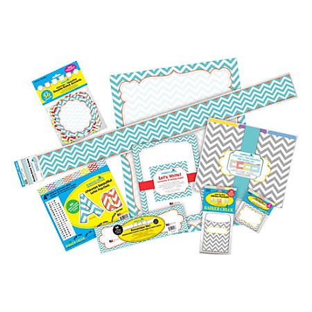 Barker Creek Chevron Designer Classroom Bulletin Board Set, Beautiful