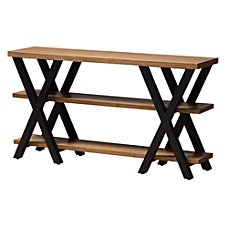 Baxton Studio Ricardo Console Table OakDark