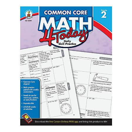 Carson-Dellosa Common Core Math 4 Today, Grade 2