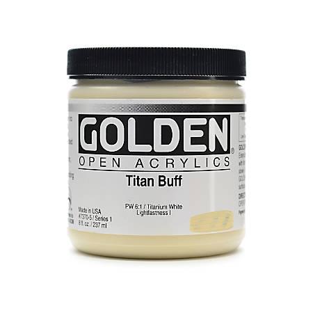 Golden OPEN Acrylic Paint, 8 Oz Jar, Titan Buff