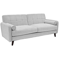 Serta® Savanna Collection Sofa, Smoke Gray/Chestnut