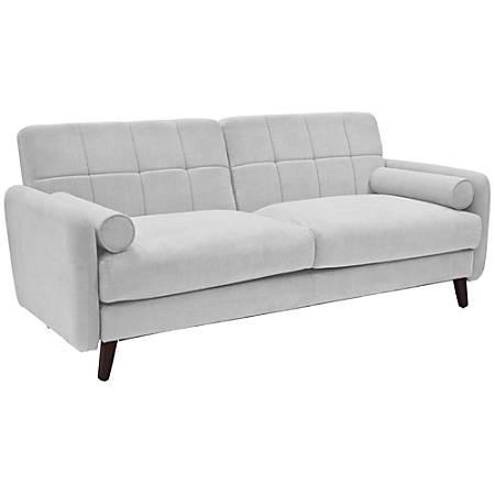 Serta® Savanna Collection Sofa, Smoke Gray/Chestnut
