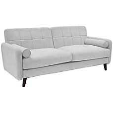 Serta Savanna Collection Sofa Smoke GrayChestnut