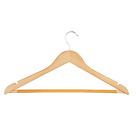 Honey-Can-Do Hangers, Suit, Maple, Set Of 8