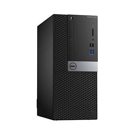 Dell™ Optiplex 7040 MT Desktop PC, Intel® Core™ i5, 8GB Memory, 500GB Hard Drive, Windows® 7 Professional