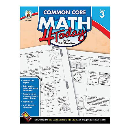 Carson-Dellosa Common Core Math 4 Today, Grade 3