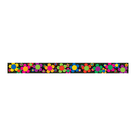 "Barker Creek Straight-Edge Borders, 3"" x 35"", Neon Flower Power, Pack Of 12"