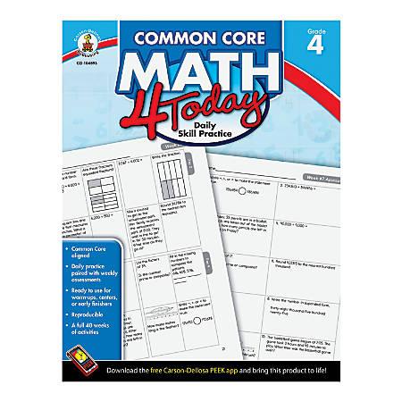 Carson-Dellosa Common Core Math 4 Today, Grade 4
