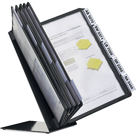 "VARIO Desk Unit 10 - Support Letter 8.50"" x 11"" Media - Sturdy, Rugged, Anti-glare - Black - Metal Base, Polypropylene Sleeve - 1 Each"