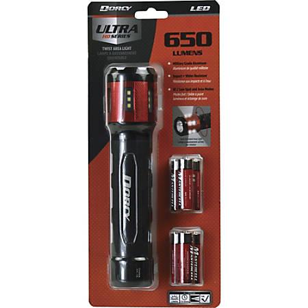 Dorcy Ultra HD Series 6AA Twist Flashlight - AA - Black, Red