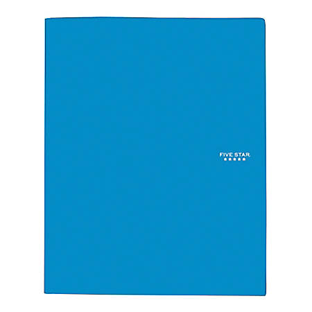 Five Star® Stay-Put Pocket & Prong Folder, 3 Fasteners, Letter Size, Assorted Colors (No Color Choice)